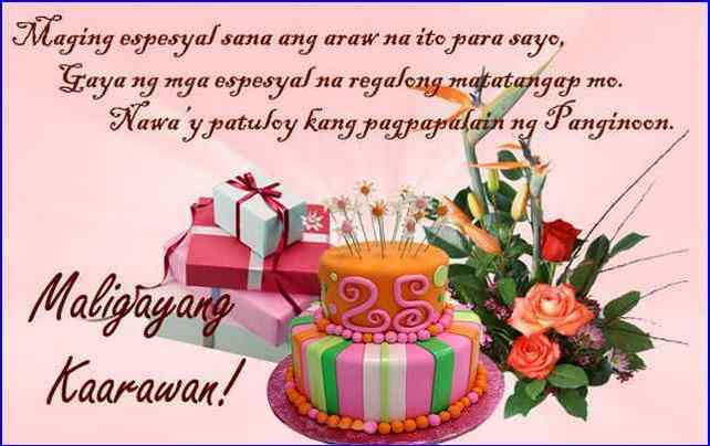 happy birthday message for best friend tagalog birthday message for best