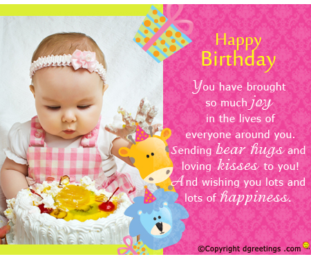 happy birthday message for child ; loving-kisses