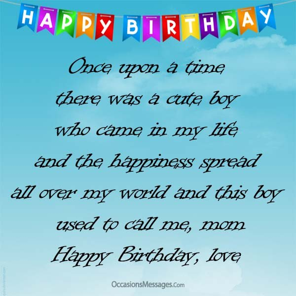 Happy Birthday Message For Son From Mother Best Happy Birthday Wishes