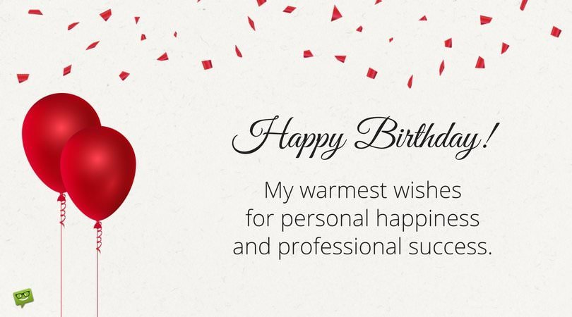 happy birthday message in card ; Birthday-wish-for-boss-on-card-with-balloons-and-warm-wishes-message
