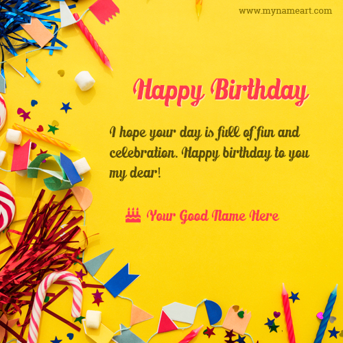 happy birthday message in card ; print-name-on-happy-birthday-greeting-card-photo