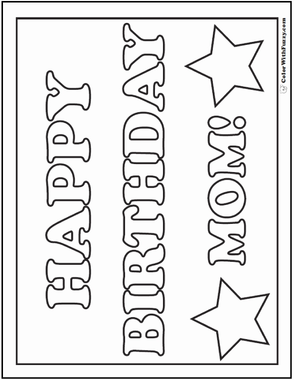 happy birthday mom cards to color ; happy-birthday-mom-coloring-cards-inspirational-45-mothers-day-coloring-pages-print-and-customize-for-mom-of-happy-birthday-mom-coloring-cards