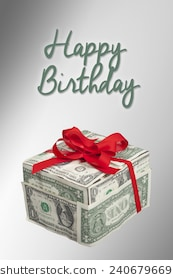 happy birthday money ; money-gift-box-red-ribbon-260nw-240679669