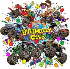 happy birthday monster truck ; 5a1bba956ae0bf592fb59b7b76620579--monster-truck-party-monster-jam