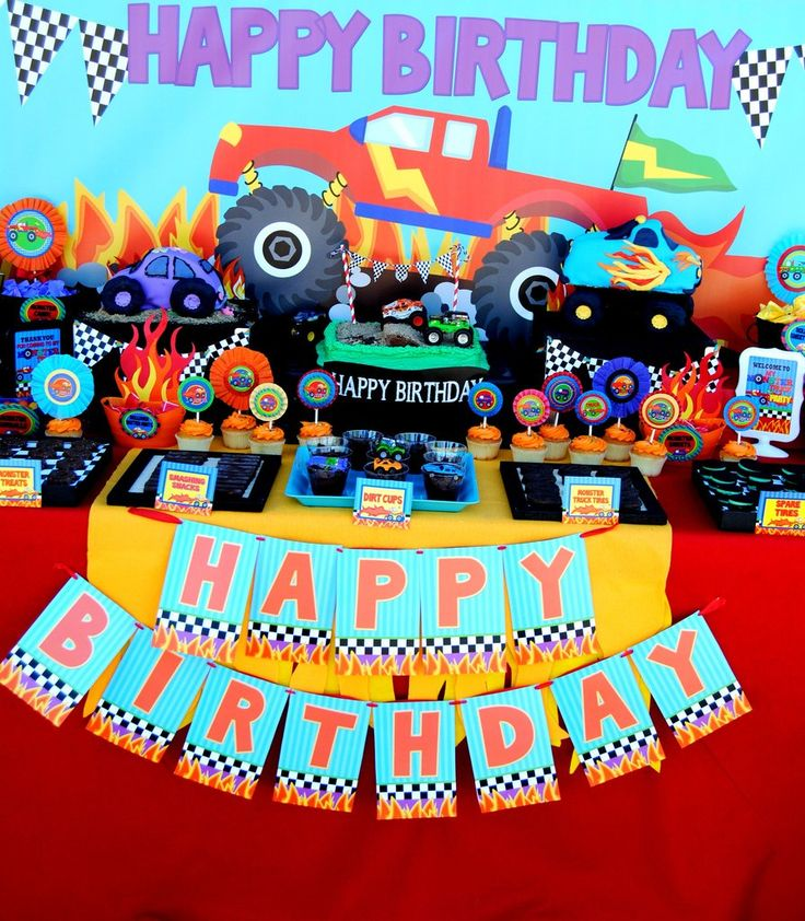 happy birthday monster truck ; fa6b975d7d33a7a3c1273d9768d4231d--monster-truck-party-monster-jam