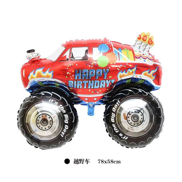 happy birthday monster truck ; happy-birthday-party-balloon-inflatable-helium-foil-party-decoration-supplies-kids-baby-birthday-cartoon-cars-foil