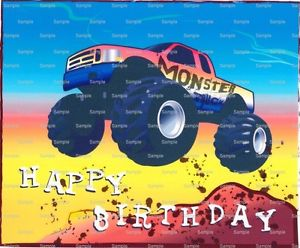 happy birthday monster truck ; s-l300