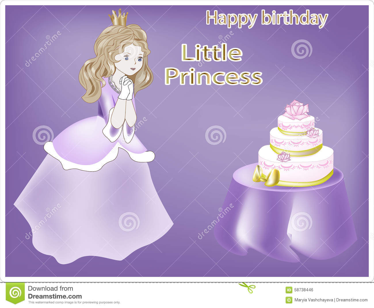 happy birthday my little princess ; happy-birthday-little-princess-lovely-looks-pie-58738446