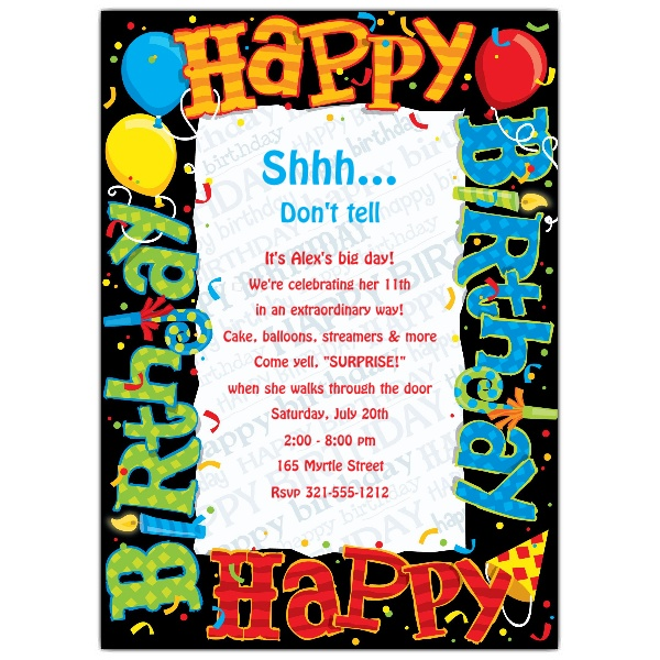 happy birthday party invitation ; 643-57-DDIV1033-z