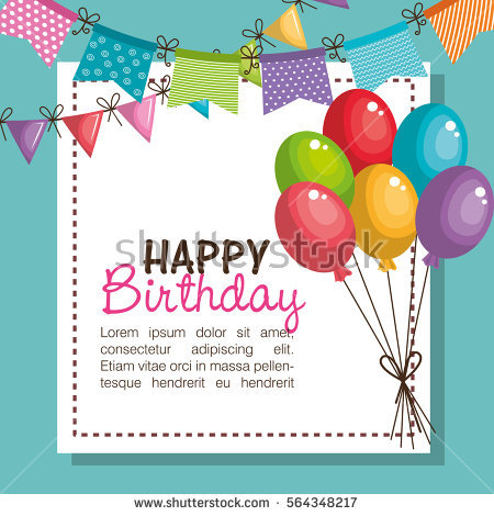 happy birthday party invitation ; stock-vector-happy-birthday-party-invitation-with-balloons-air-564348217