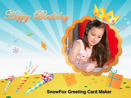 happy birthday photo card maker ; happy-birthday-card-maker-happy-birthday-greeting-card-generator-birthday-cookies-cake-template