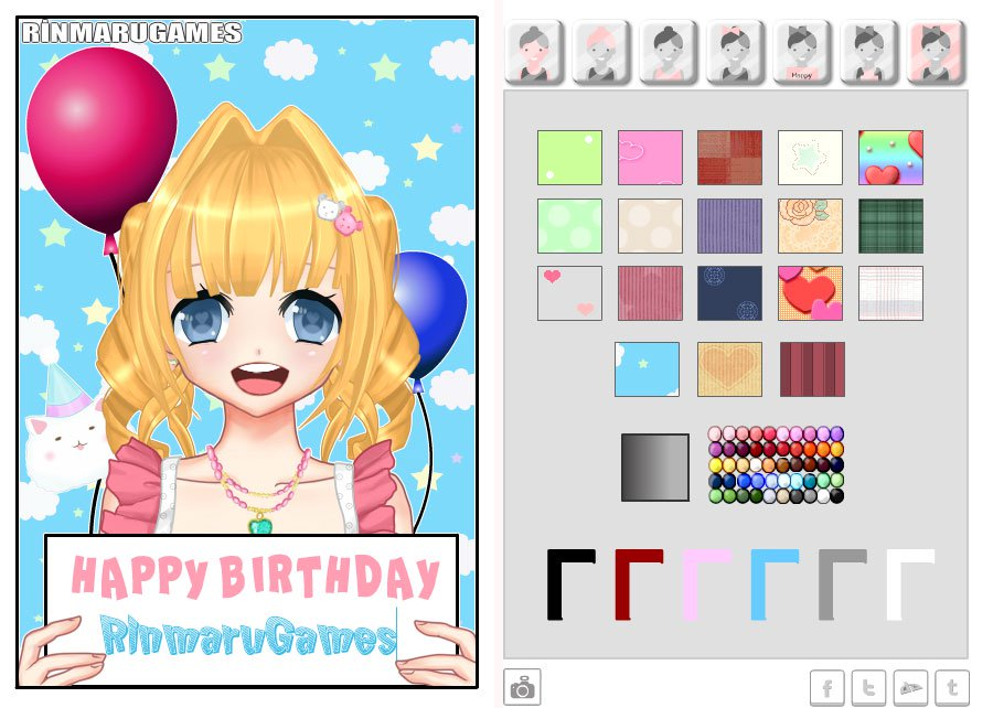 happy birthday photo card maker ; ss1