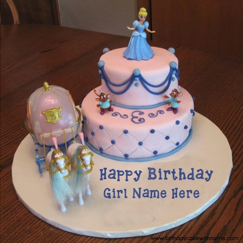 happy birthday photo edit name ; birthday-doll-party-cake-image-with-name