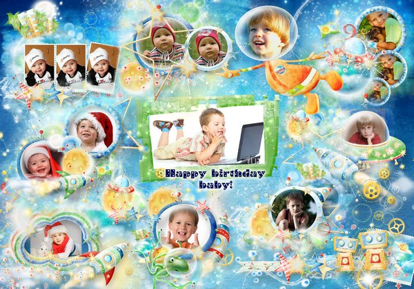 happy birthday photo frame collage ; 1504506264_space-photo-frame