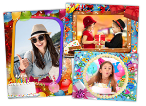 happy birthday photo frame collage ; birthday