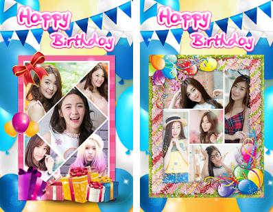 happy birthday photo frame collage ; com