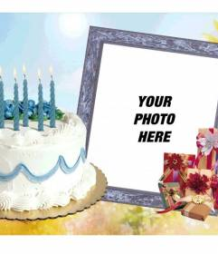 happy birthday photo frames online editing free ; BirthdayCakePhotoFrame