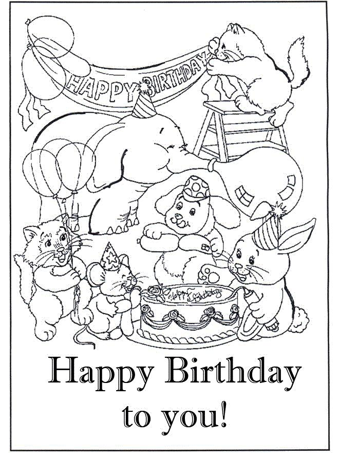 happy birthday pictures to colour in ; 4d70b2bccb59f717f8de6bc87a073c59
