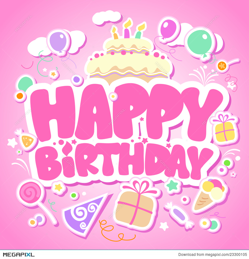 happy birthday pink images ; 23300105