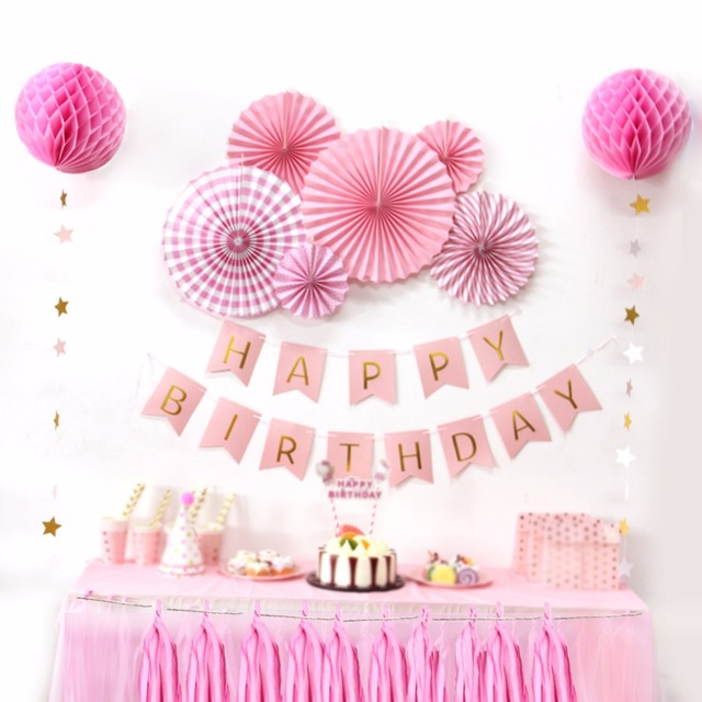 happy birthday pink images ; Sunbeauty-A-Set-Pink-Theme-Happy-Birthday-Decoration-DIY-Kids-Party-Favor-Princess-Happy-Birthday-Party