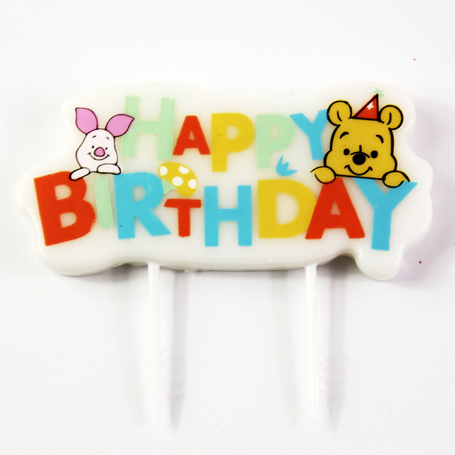 happy birthday pooh ; Creative-Winnie-the-Pooh-Cartoon-Candles-Kids-Happy-Birthday-Cake-Decoration-Candles-Party-Decoration-Supplies
