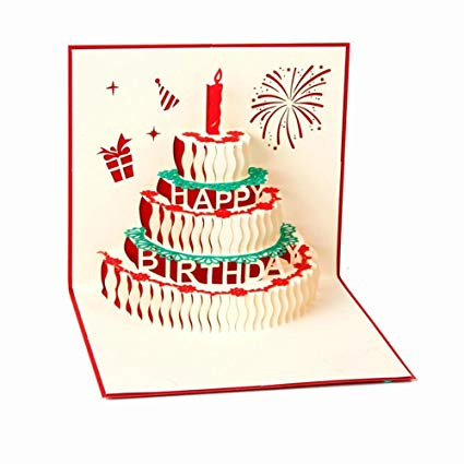 happy birthday pop up card ; 61bYC0NSvcL