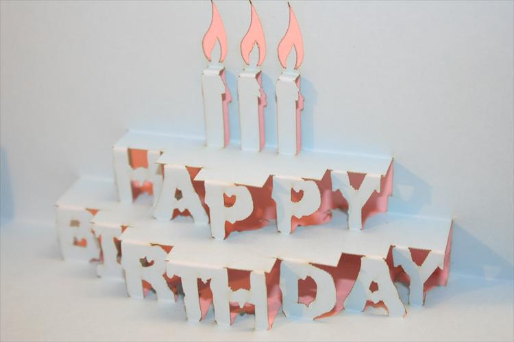 happy birthday pop up card ; QN043PClose