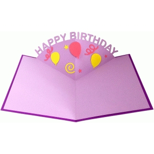 happy birthday pop up card ; d79716