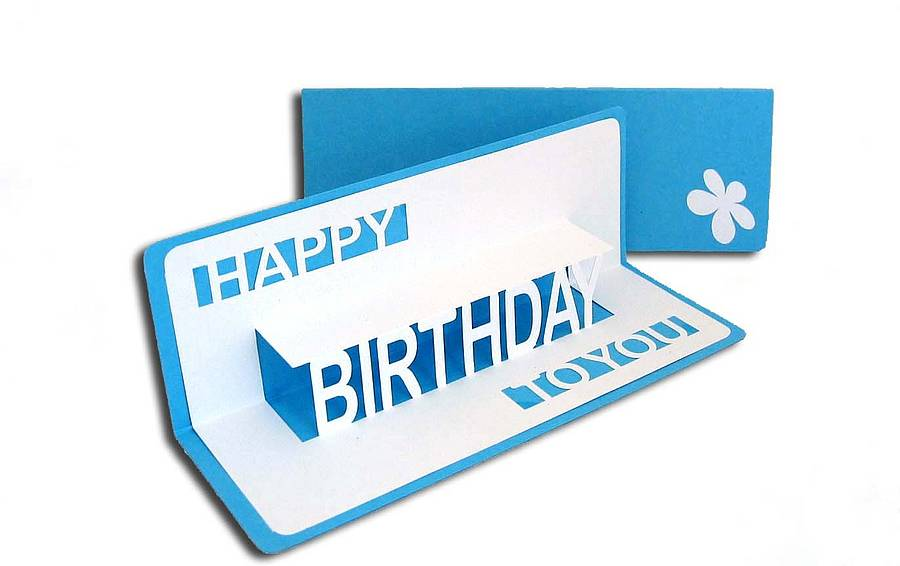happy birthday pop up card ; original_birthday_pop_up_card_sky_blue
