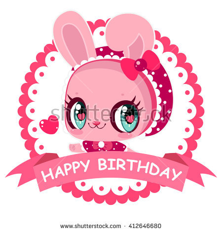happy birthday signs for girls ; stock-vector-sweet-little-bunny-card-happy-birthday-banner-pink-girl-greeting-card-with-bunny-412646680