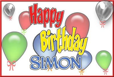 happy birthday simon ; Simon+Birthday+Greeting