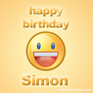 happy birthday simon ; Simon