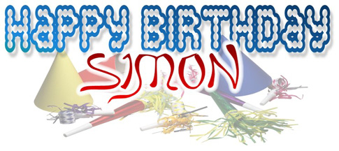 happy birthday simon ; simonbday