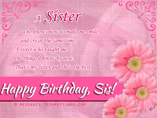 happy birthday sister card messages ; happy-birthday-sister-wishes