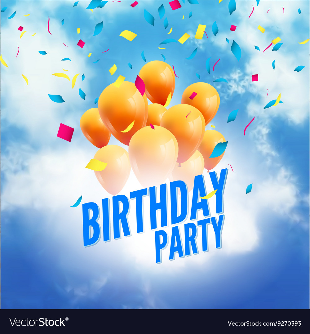happy birthday sky ; birthday-party-poster-sky-clouds-happy-birthday-vector-9270393