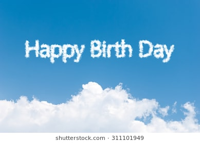 happy birthday sky ; blue-sky-background-happy-birth-260nw-311101949