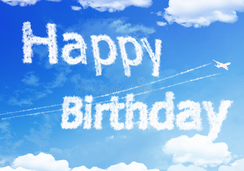 happy birthday sky ; cloud-text-happy-birthday-sky-55757997