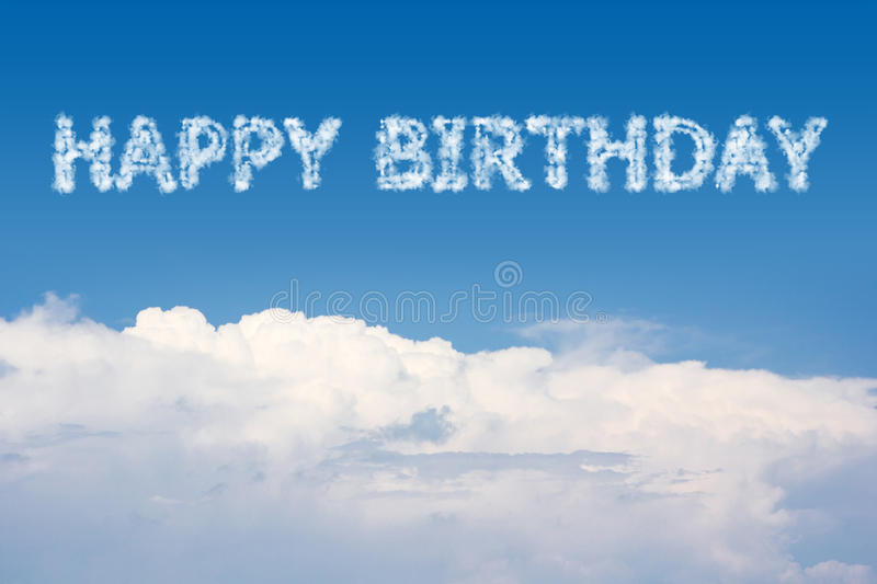 happy birthday sky ; happy-birthday-cloud-text-sky-51840112