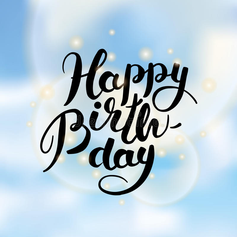 happy birthday sky ; happy-birthday-lettering-sky-vector-text-background-to-you-greeting-card-congratulations-calligraphy-89111784