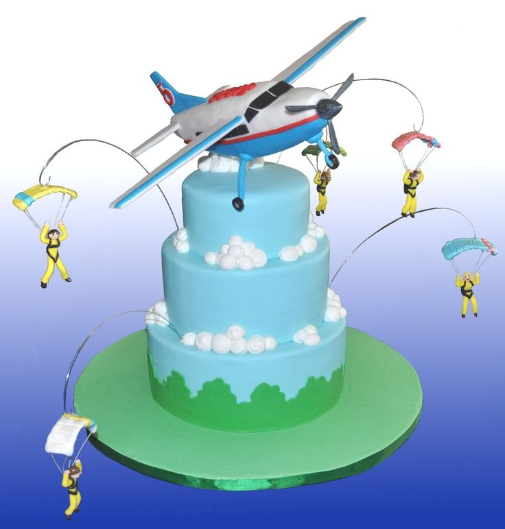 happy birthday skydiving ; ea338a8e611e23f9cdff72cd9d7e818e--airplane-cakes-cakes-for-boys