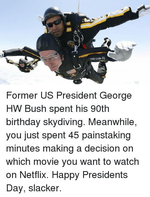 happy birthday skydiving ; former-us-president-george-hw-bush-spent-his-90th-birthday-14825593