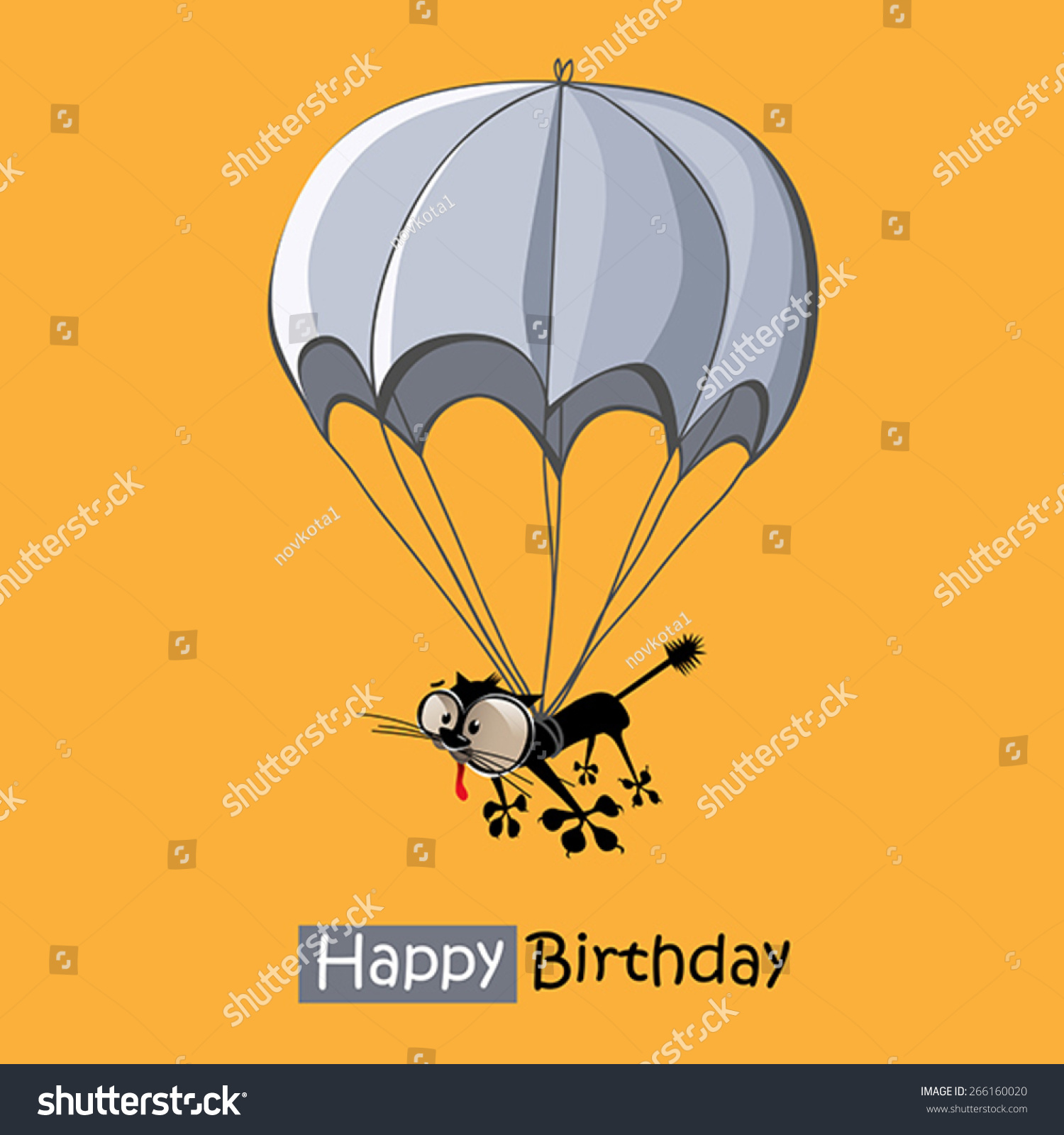 happy birthday skydiving ; happy-birthday-skydiving-stock-vector-happy-birthday-smile-cat-parachute-266160020