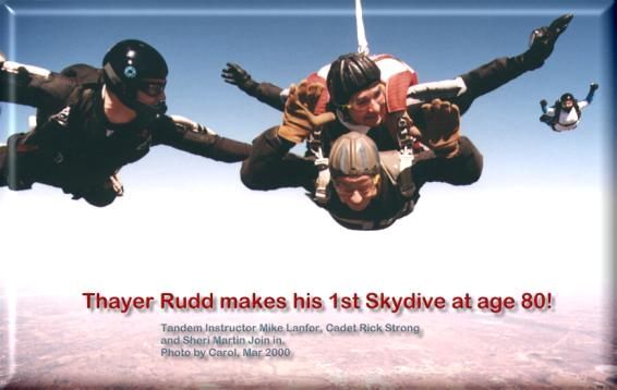 happy birthday skydiving ; thayer