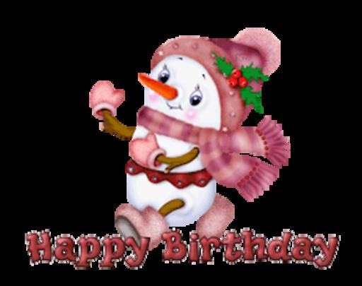 happy birthday snowman ; HappyBirthdayCuteSnowman-th