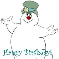 happy birthday snowman ; ftshb