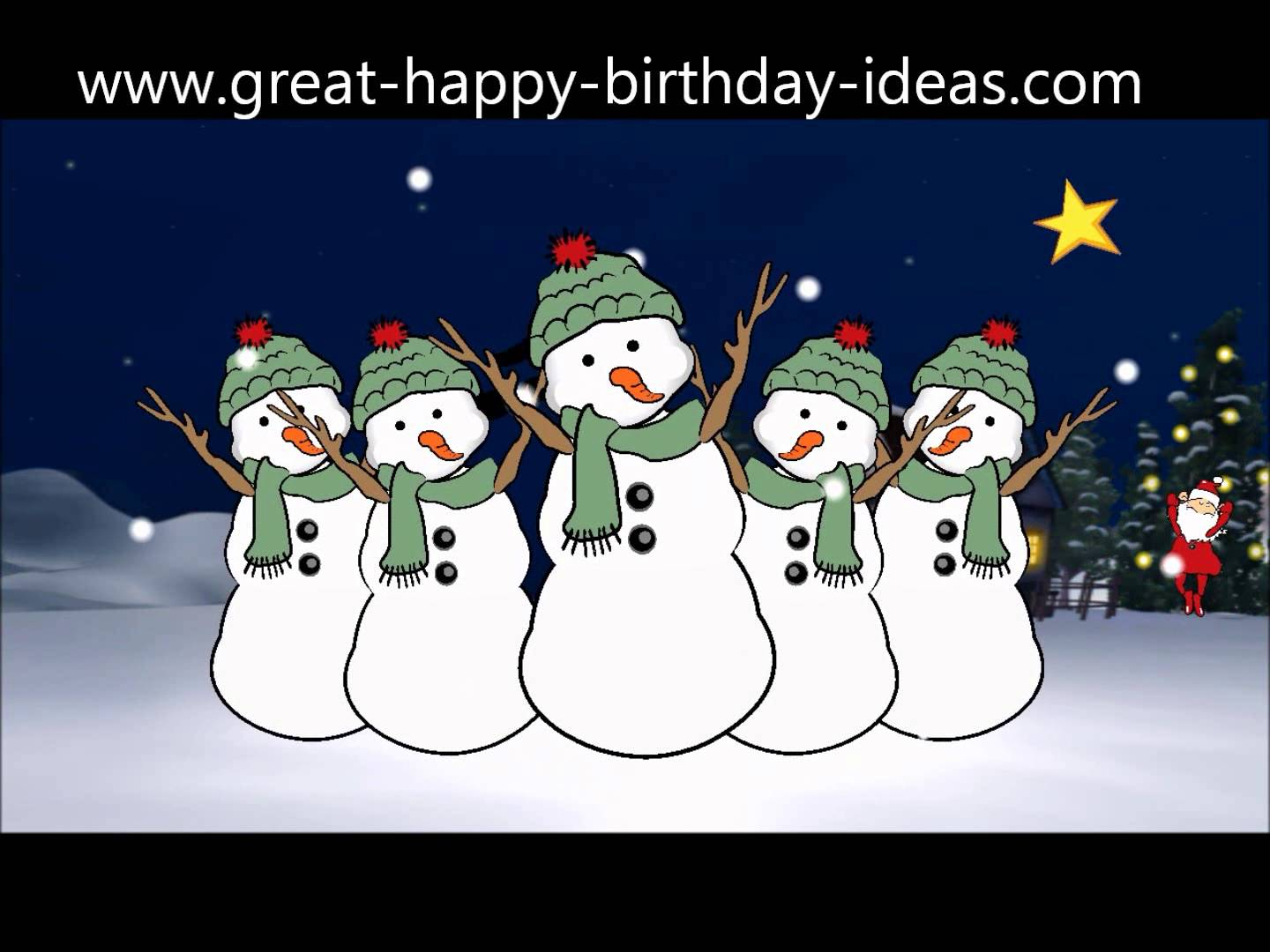 happy birthday snowman ; maxresdefault