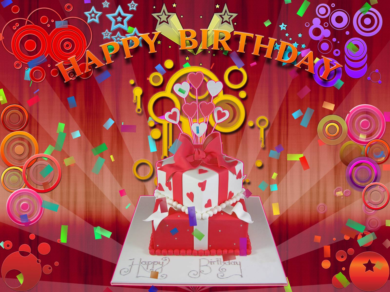happy birthday special wallpaper ; Free-download-Red-Happy-Birthday-Images-1