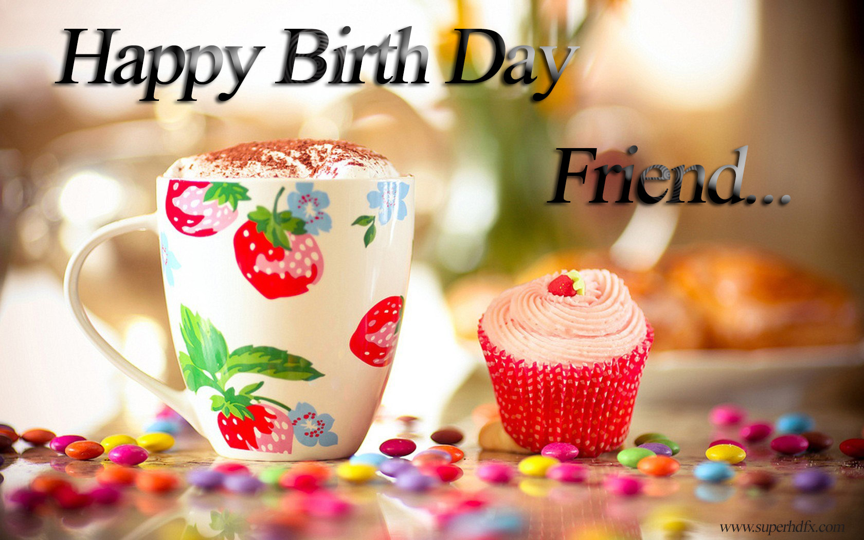 happy birthday special wallpaper ; Happy-Birth-Day-Friend-Wallpaper