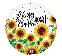 happy birthday sunflowers ; 41LU783woTL
