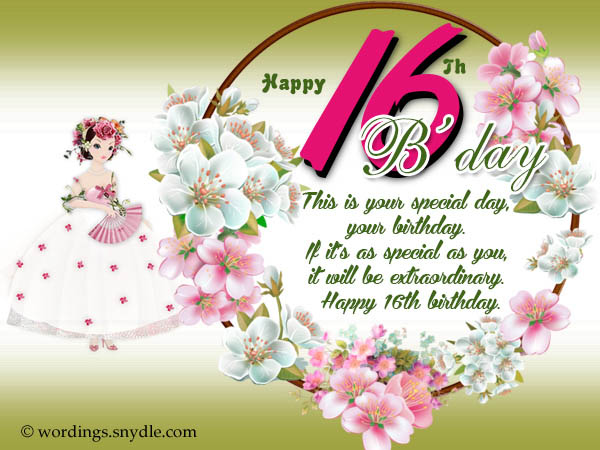 happy birthday sweet 16 greeting ; 16th-birthday-messages